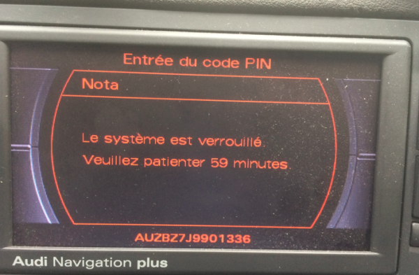 Audi Navigation Plus serial number