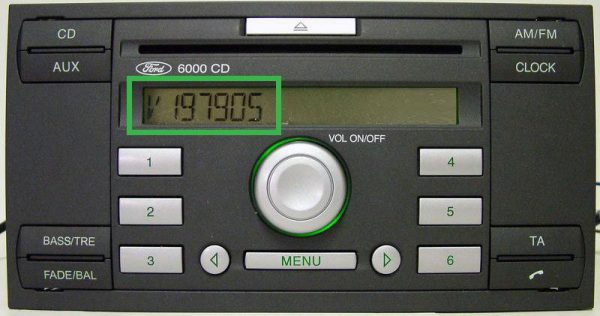 Car radio code ford series V