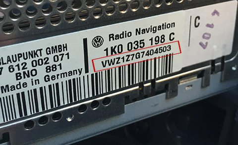 volkswagen car radio navigation code gps